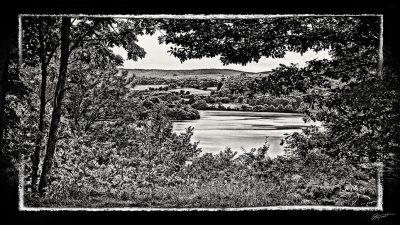 Photographie d'art du Lac du laouzas