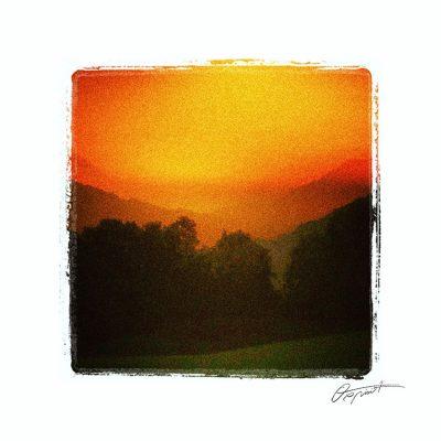 ciel orange en haute pyrénées
