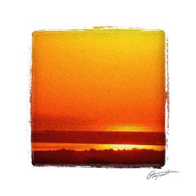 lever de soleil sur Bages dans l'Aude