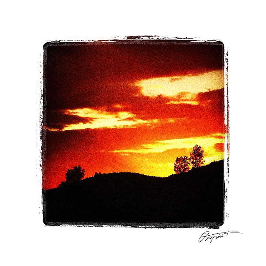 ciel orange en Corbières
