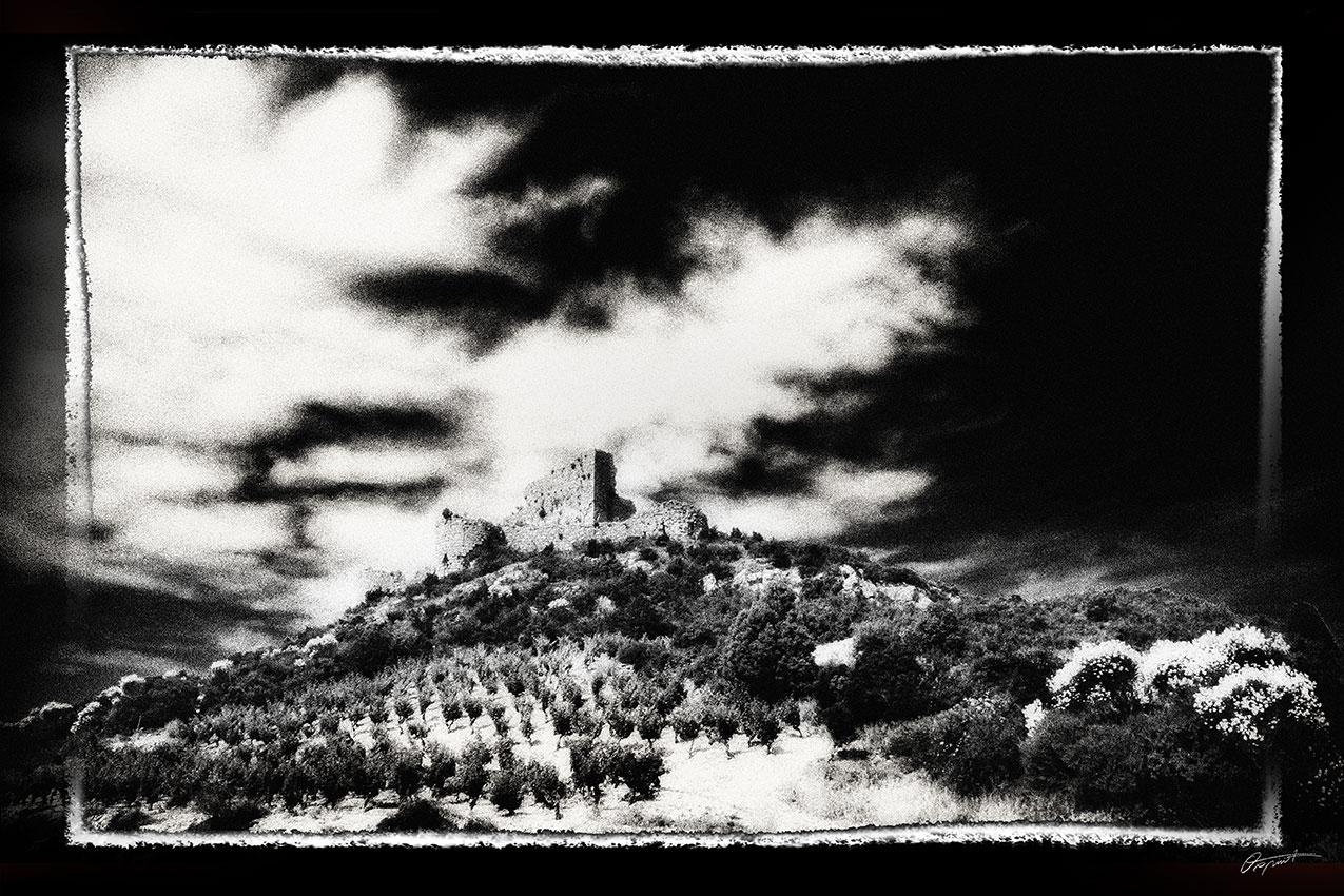 Photographie d'art du château d'Aguilar