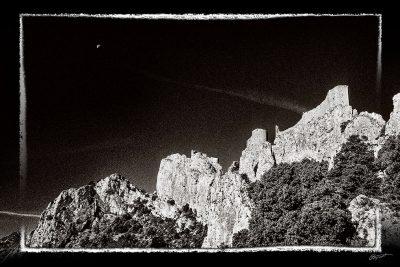 Photographie d'art du château de Peyrepertuse