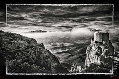 Photographie d'art du château de Quéribus