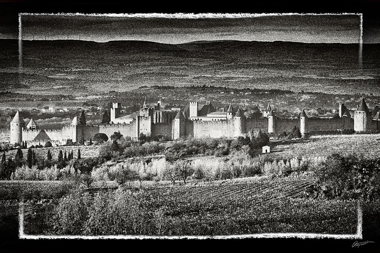 Photographie d'art de la cité de Carcassonne