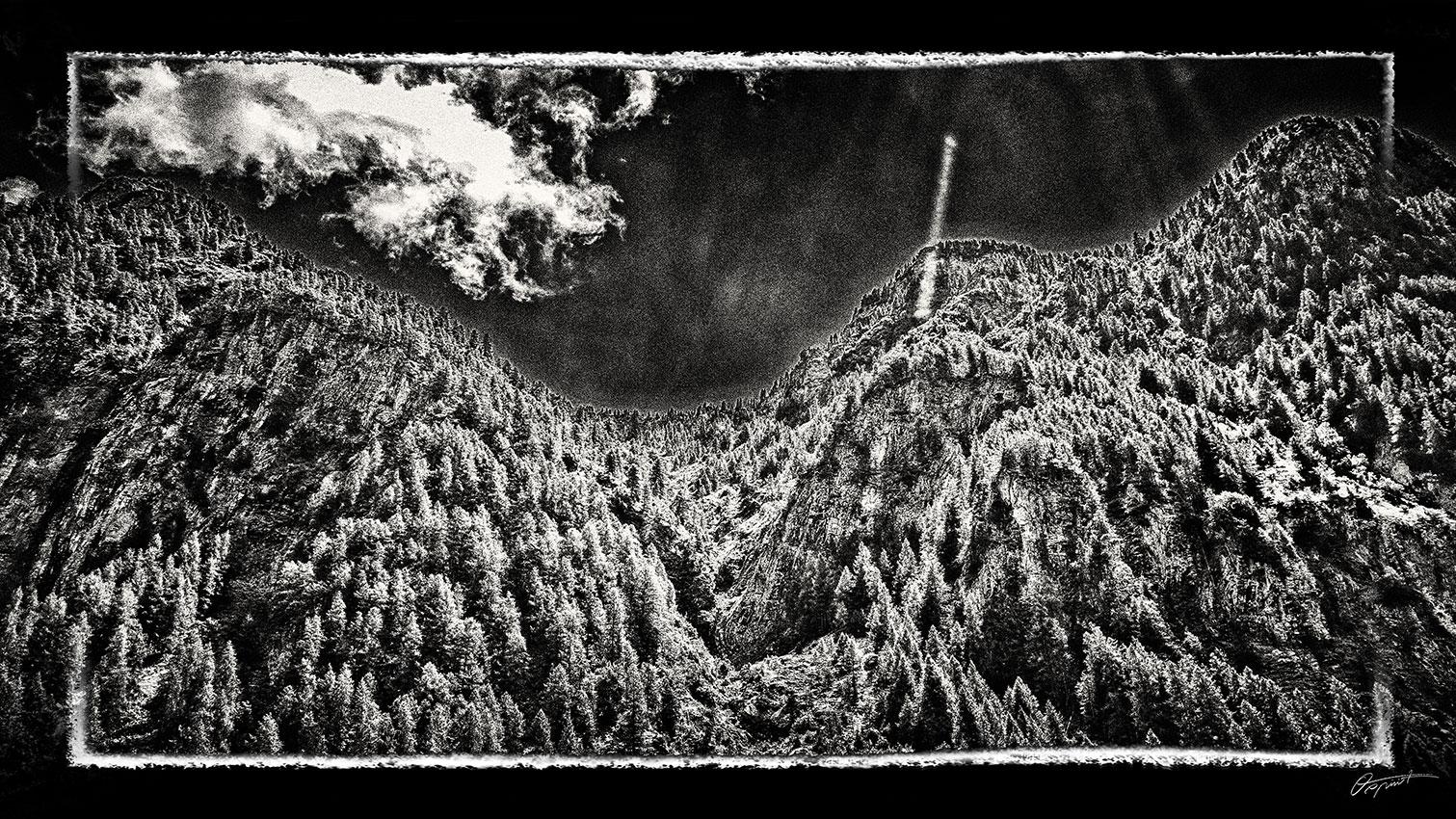 Ornières Merlette dans les hautes alpes