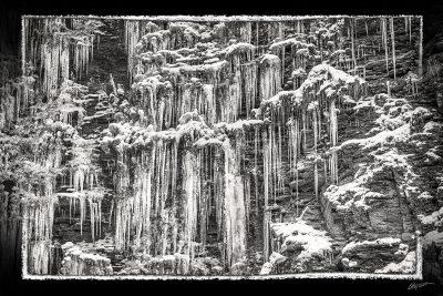 Cascade de glace en Haute Savoie