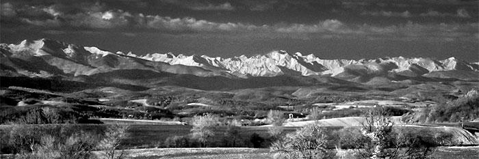 Les Monts Dolmes vues de Mirepoix Infrarouge