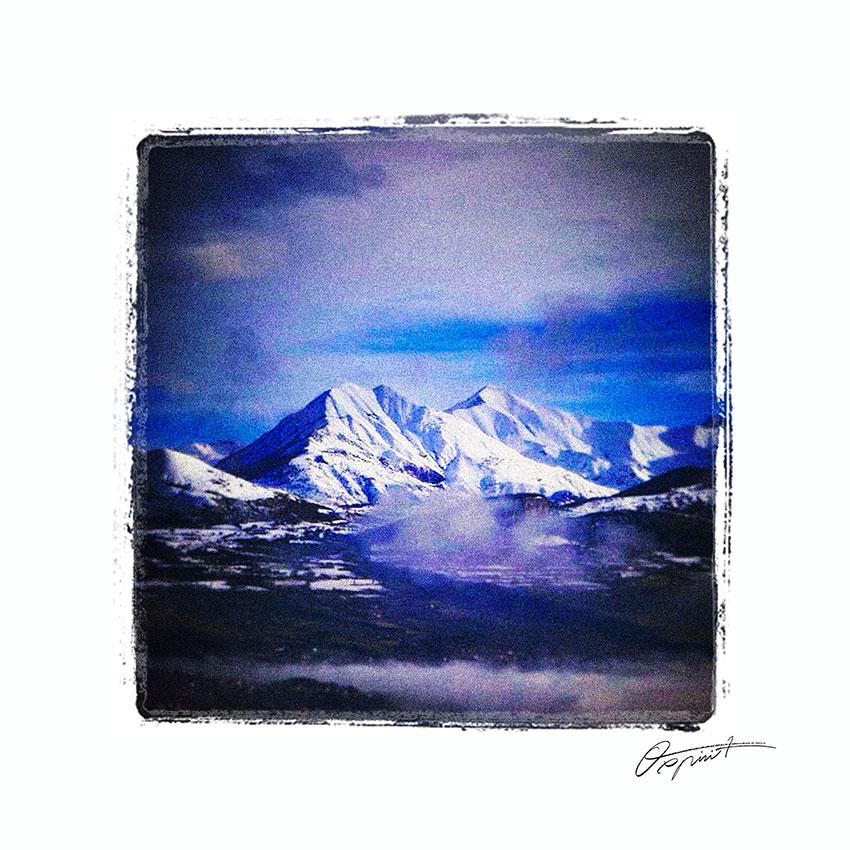 Montagnes de Gap dans les Hautes Alpes