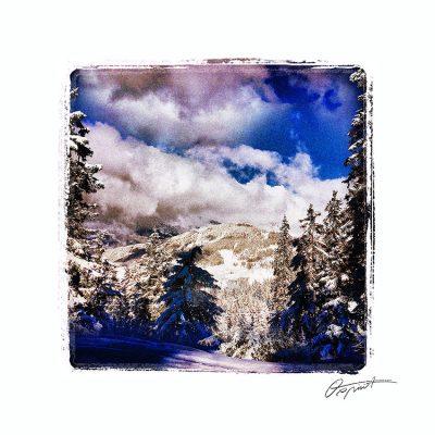 Neige à la Clusaz en haute Savoie