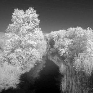 Photo infrarouge de la Berre à Ribaud dans les Corbières