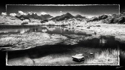 Paysage des montagnes de Savoie